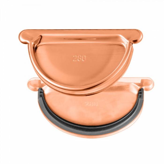 Kupfer Steckboden mit Gummidichtlippe halbrund RG333