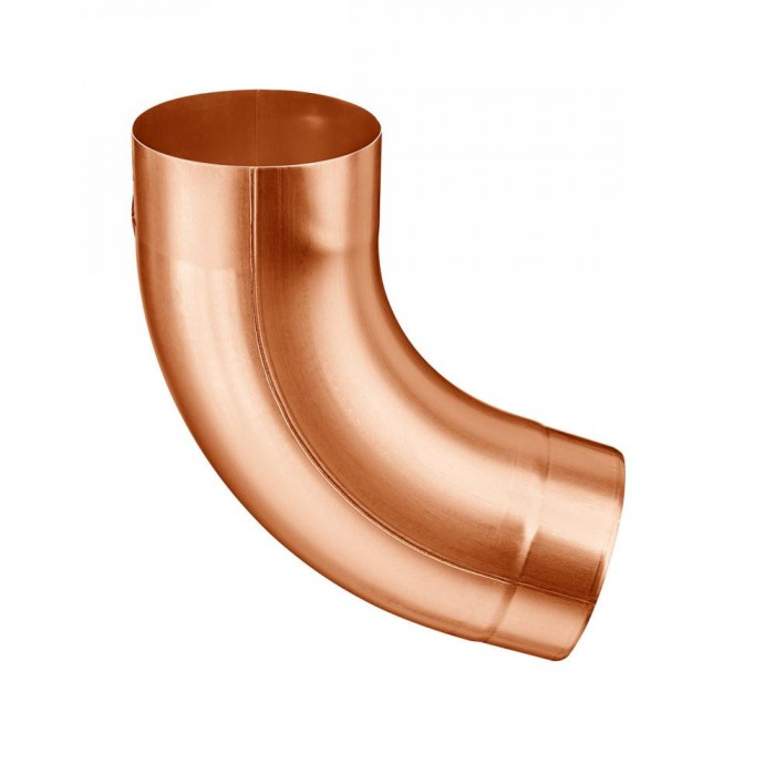 Kupfer Fallrohrbogen mit Einzug rund DN100 / 72° Grad