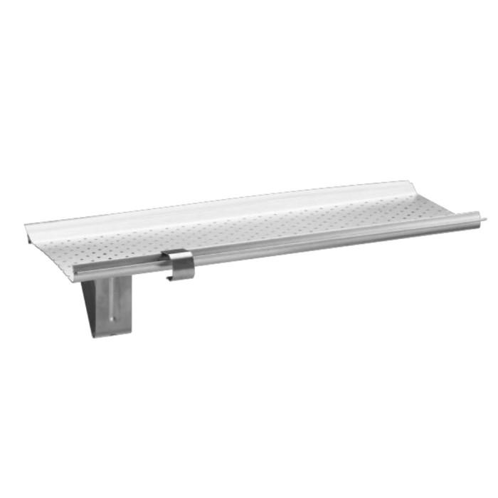 Gutter Stark Laubschutz Alu natur für Dachrinnen RG333