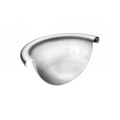 Titanzink Rinnenviertelkugel ohne Stift halbrund RG200