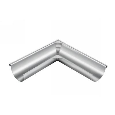 Titanzink Außenwinkel lang gelötet für halbrunde Dachrinne RG200 Winkel 90° Grad