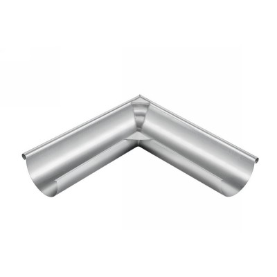 Titanzink Außenwinkel lang gelötet für halbrunde Dachrinne RG333 Winkel 90° Grad
