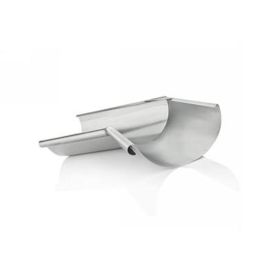 Titanzink Innenwinkel gelötet für halbrunde Dachrinne RG200 Winkel 120° Grad
