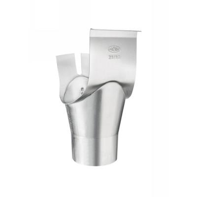 Titanzink Schrägstutzen zylindrisch rund RG333/DN100 Winkel 40° Grad