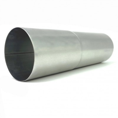 Titanzink Fallrohr mit Langmuffe DN76 rund Länge: 0,5 Meter