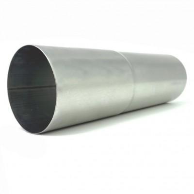 Titanzink Fallrohr mit Langmuffe DN76 rund Länge 1,0 Meter