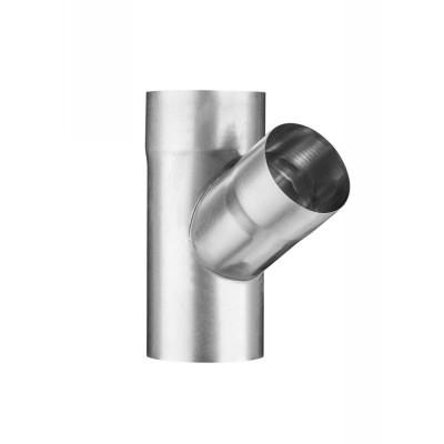 Titanzink Fallrohrabzweig DN100/DN100 seitlicher Abgang 60° Grad
