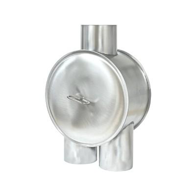 Titanzink Wasserverteiler /-umleiter mit geradem Auslauf DN100