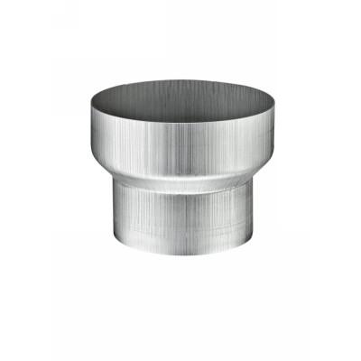 Titanzink Reduzierung von Fallrohr DN100 an Fallrohr DN76