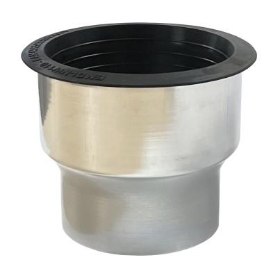Titanzink Übergang mit Dichtelement von KG-Rohr DN110 auf Fallrohr DN100
