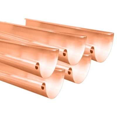 Kupfer 5er Sparpaket Dachrinne halbrund RG333 Länge 1,0 Meter