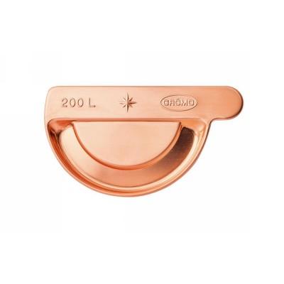Kupfer Steckrinnenboden links halbrund RG200