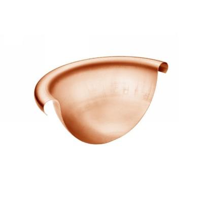 Kupfer Rinnenviertelkugel ohne Stift halbrund RG333
