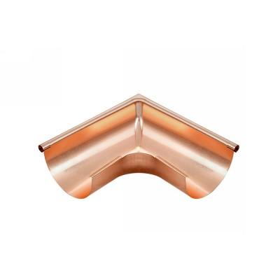 Kupfer Außenwinkel gezogen für halbrunde Dachrinne RG400 Winkel 90° Grad