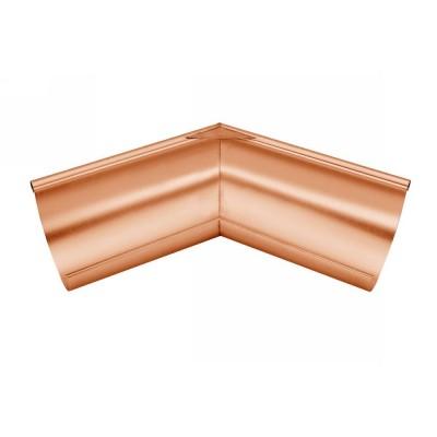 Kupfer Außenwinkel gelötet für halbrunde Dachrinne RG333 Winkel 135° Grad