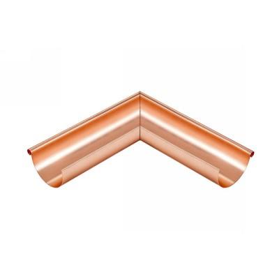 Kupfer Außenwinkel lang gelötet für halbrunde Dachrinne RG400 Winkel 90° Grad