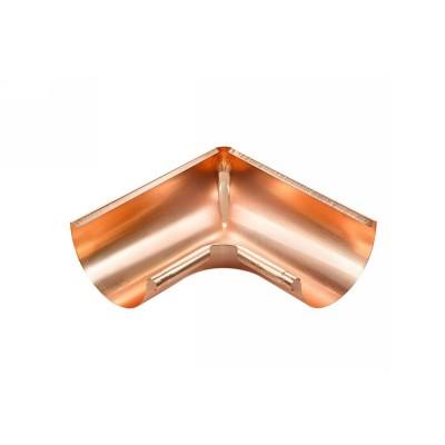 Kupfer Innenwinkel gezogen für halbrunde Dachrinne RG333 Winkel 90° Grad