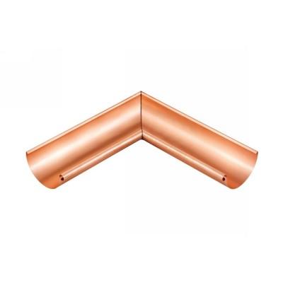 Kupfer Innenwinkel lang gelötet für halbrunde Dachrinne RG333 Winkel 90° Grad