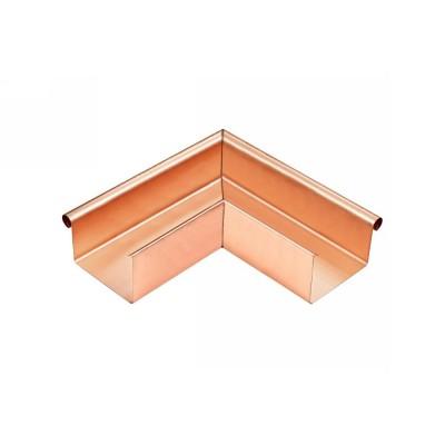 Kupfer Außenwinkel gelötet für kastenförmige Dachrinne RG200 Winkel 90° Grad