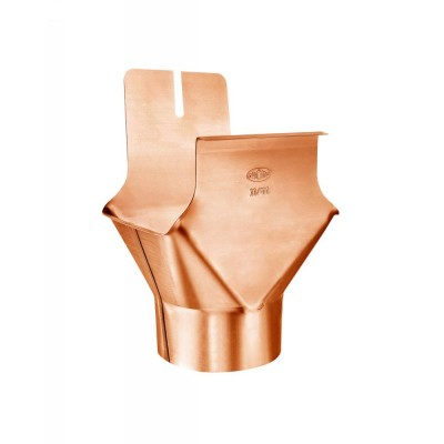 Kupfer Einhangstutzen RG250/DN76 für kastenförmige Dachrinnen