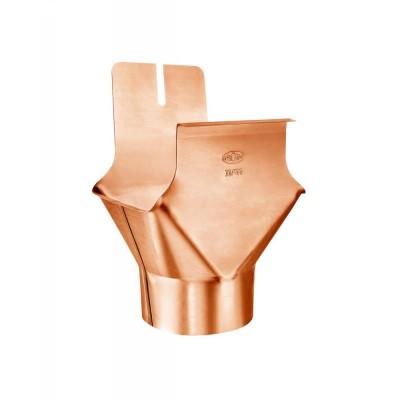Kupfer Einhangstutzen RG250/DN80 für kastenförmige Dachrinnen