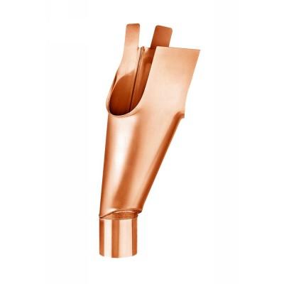Kupfer Gelenkstutzen Länge 500 mm für Dachrinne RG333 an Fallrohr DN100
