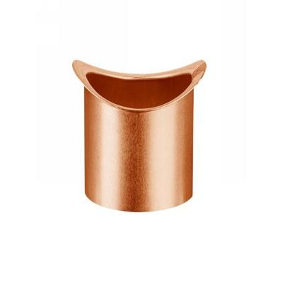 Kupfer Lötstutzen für halbrunde Dachrinne RG333 und Fallrohr DN100