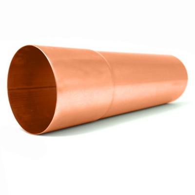 Kupfer Fallrohr DN100 rund Länge 0,75 Meter