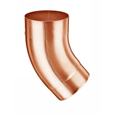 Kupfer Fallrohrbogen mit Einzug rund DN100 / 40° Grad