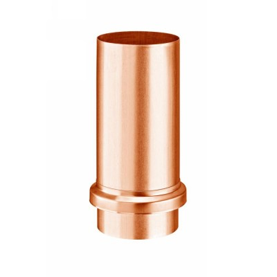 Kupfer Schiebemuffe mit Standrohrkappe DN100 rund