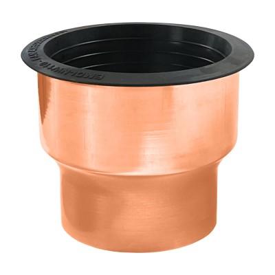 Kupfer Übergang mit Dichtelement von KG-Rohr DN110 auf Fallrohr DN100