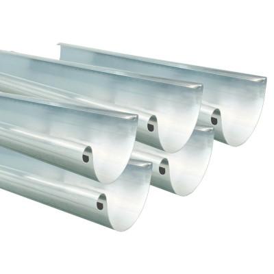Aluminium 5er Sparpaket Dachrinne halbrund RG280 Länge 1,0 Meter