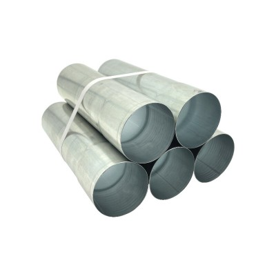5er Pack Aluminium Fallrohr DN100 rund Länge: 0,5 Meter