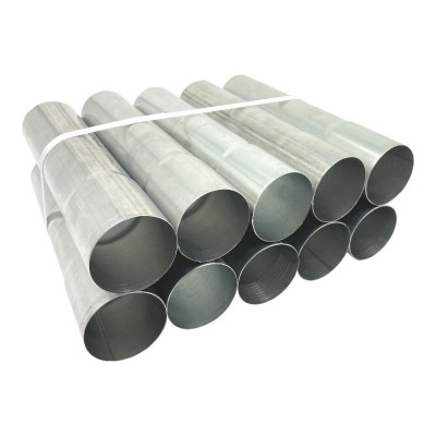 10er Pack Aluminium Fallrohr DN60 rund Länge: 0,25 Meter