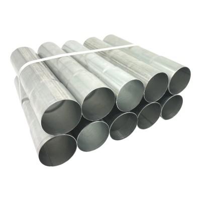 10er Pack Aluminium Fallrohr DN76 rund Länge: 0,75 Meter
