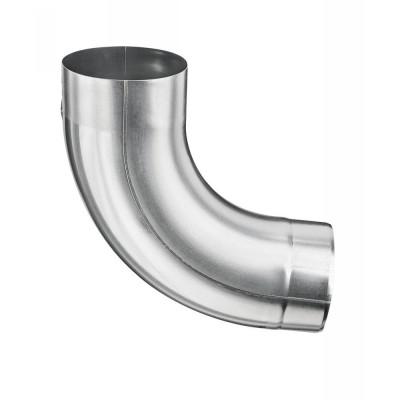 Aluminium Fallrohrbogen mit Einzug rund DN100 / 85° Grad