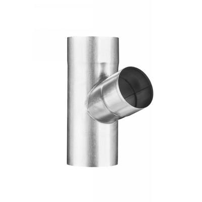 Aluminium Fallrohrabzweig DN120/DN120 seitlicher Abgang 72° Grad