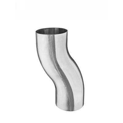 Aluminium Sockelknie / Etagenbogen rund DN76