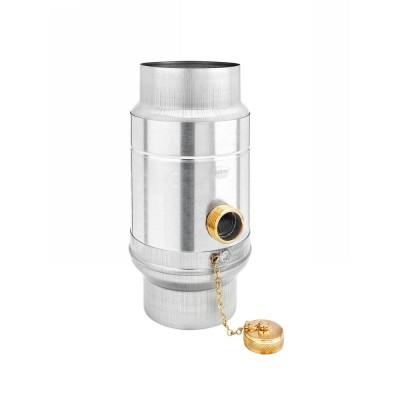 Aluminium Regenwassersammler mit Schlauchpaket für Fallrohr DN120