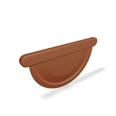 PREFA Rinnenendboden halbrund RG250 Universal Ziegelrot