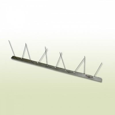 Vogel / Taubenabwehr aus Edelstahl 1-reihig 0,5 m