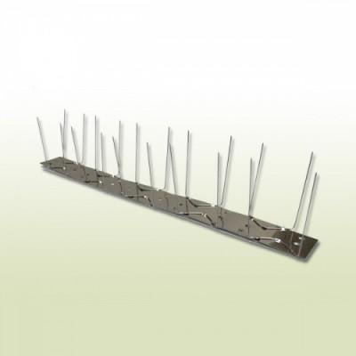 Vogel / Taubenabwehr aus Edelstahl 2-reihig 1,0 m