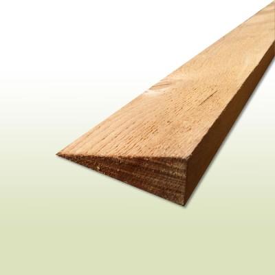 Trauf-/Keilbohle aus Holz sägerau - Länge: 1,00 Meter