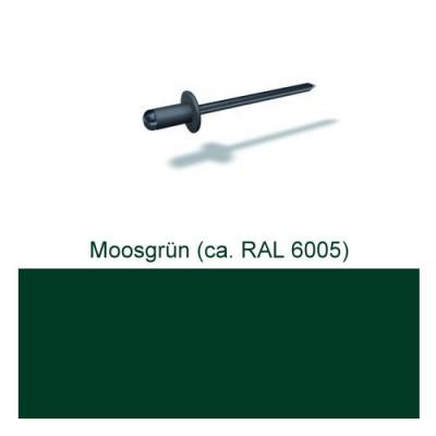 PREFA Patentnieten 4,1mm, moosgrün