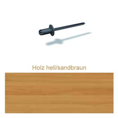 PREFA Patentnieten 4,1mm, holz hell/sandbraun