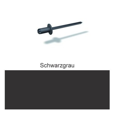 PREFA Patentnieten 4,1mm, schwarzgrau