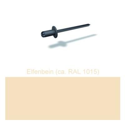 PREFA Patentnieten 4,1mm, elfenbein