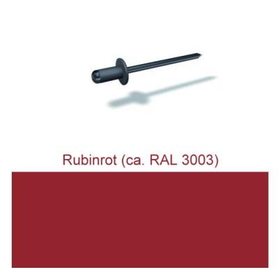 PREFA Patentnieten 4,1mm, rubinrot
