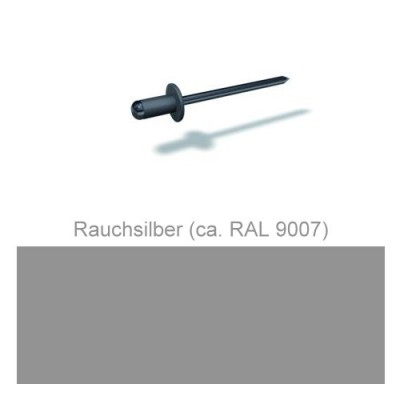 PREFA Patentnieten 4,1mm, rauchsilber