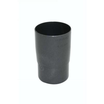 Marley Rohrmuffe Rohrverbinder DN53, Strukturfarbe Anthrazit-Metallic